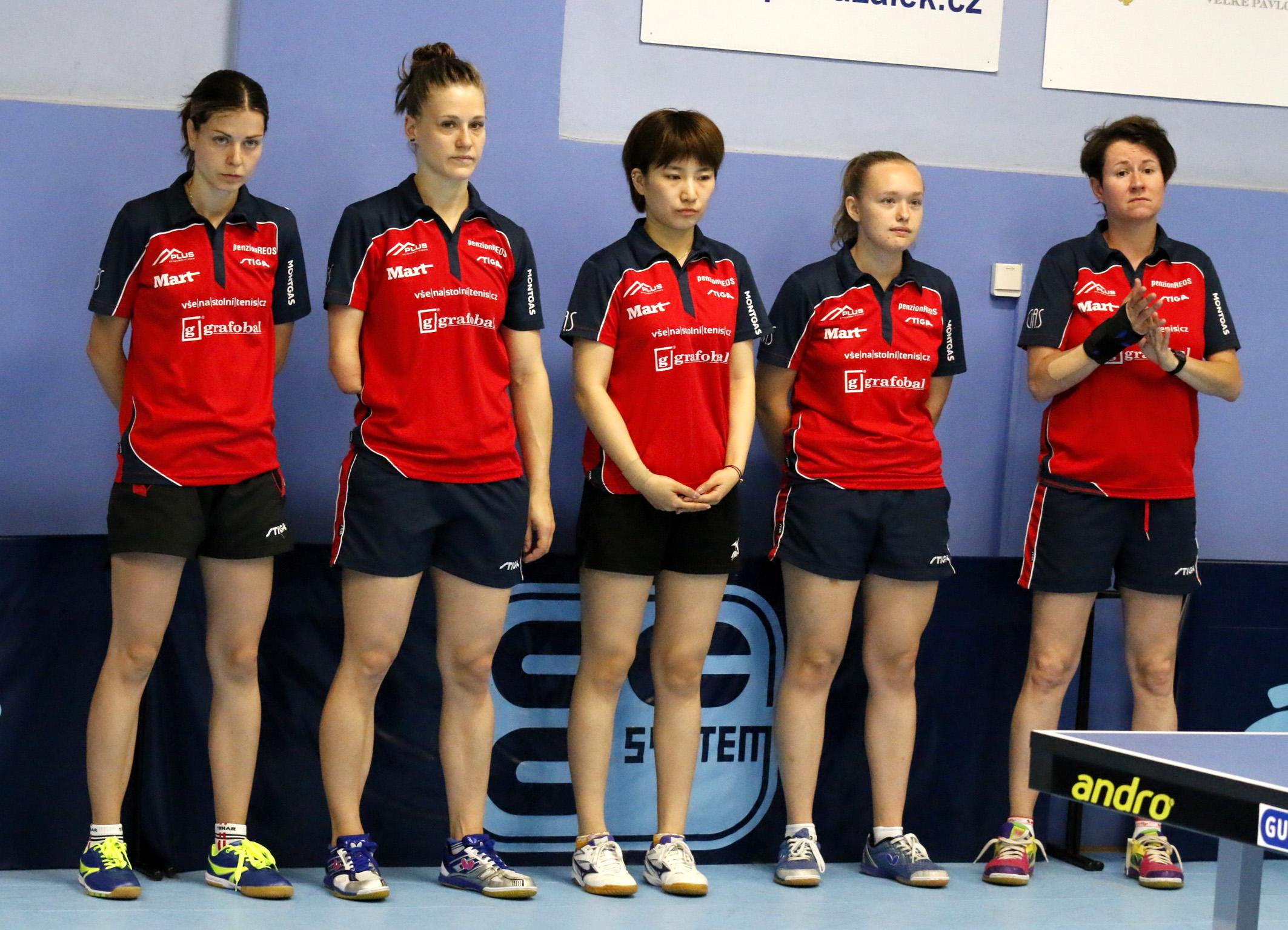 Děvčata zvítězila 5:3 v Břeclavi a můžou v sobotu 12.5. v Hodoníně rozhodnout.