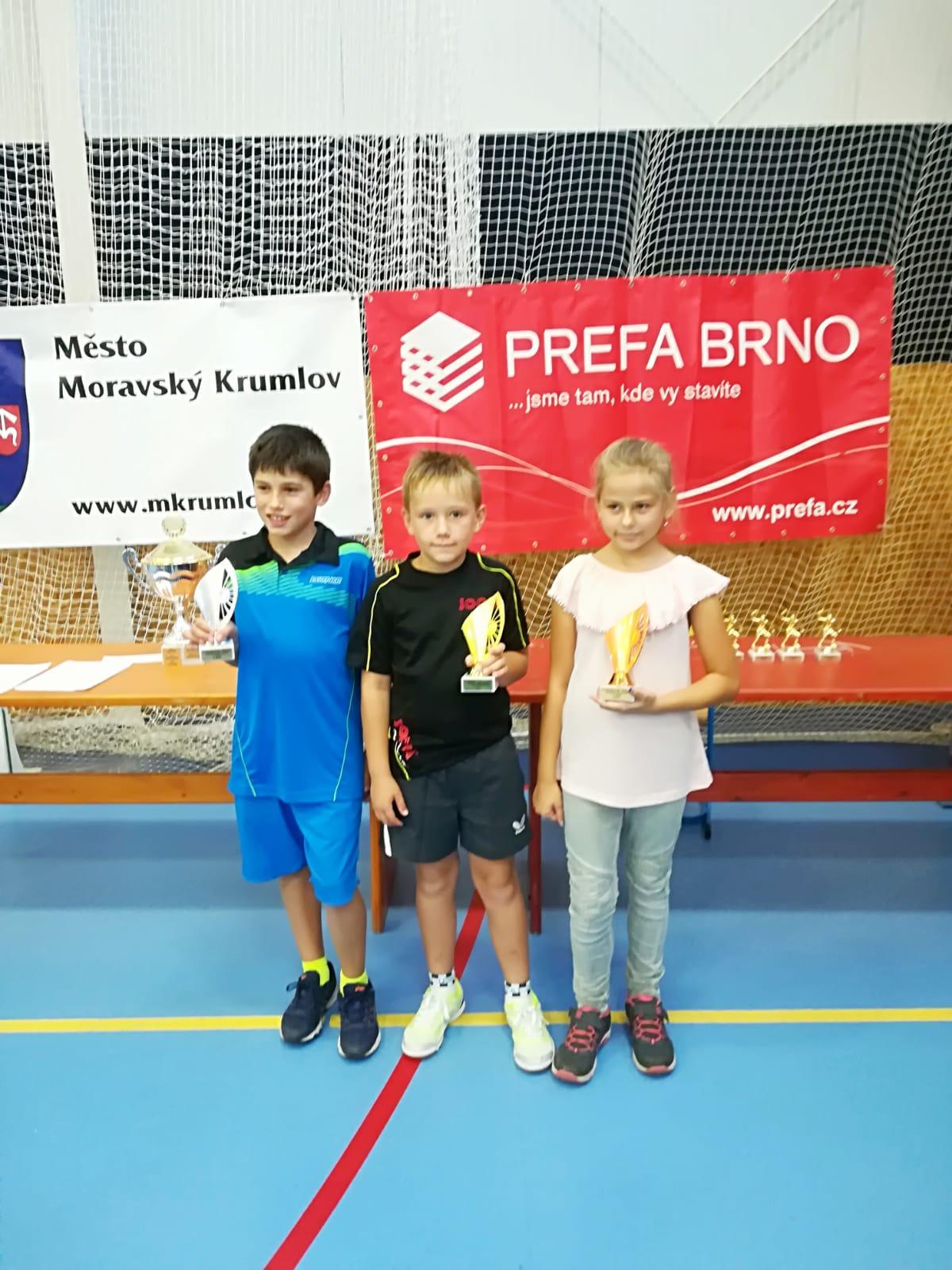 Naši nejmladší se zúčastnili krajského bodovacího turnaje v Krumlově